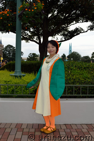 My favorite point of her beautifully fresh citrus dress is the gentle orange scarf collar. Cute and talented girl made to transform pretty costume from ...  sc 1 st  URANEZU.com & Amazing Halloween Costume 2017 #4